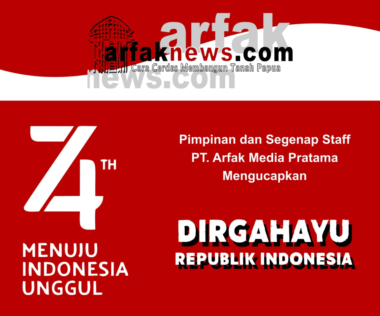 Iklan HUT RI arfaknews